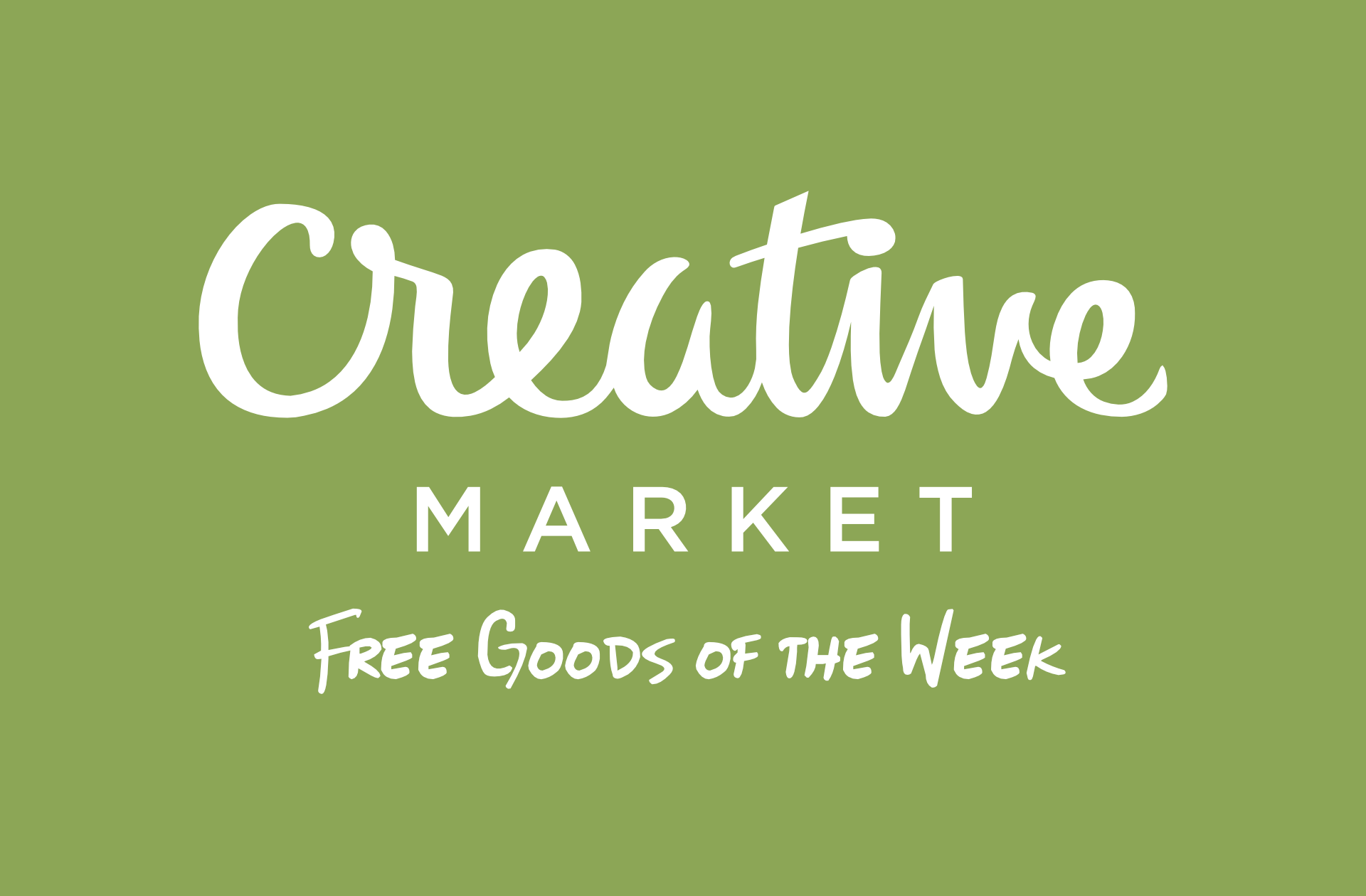 Free Goods of the Week od Creative Market Grudzień 2015